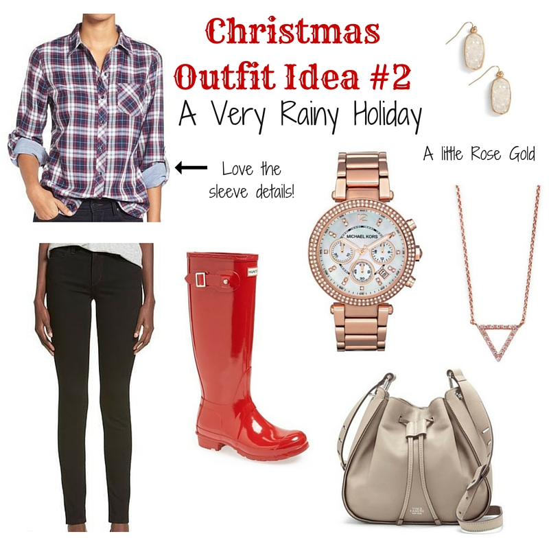 What to Wear on Christmas Day for Rainy Weather | Lady in Violet