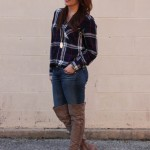 Houston Rodeo Outfit: Plaid and OTK Boots
