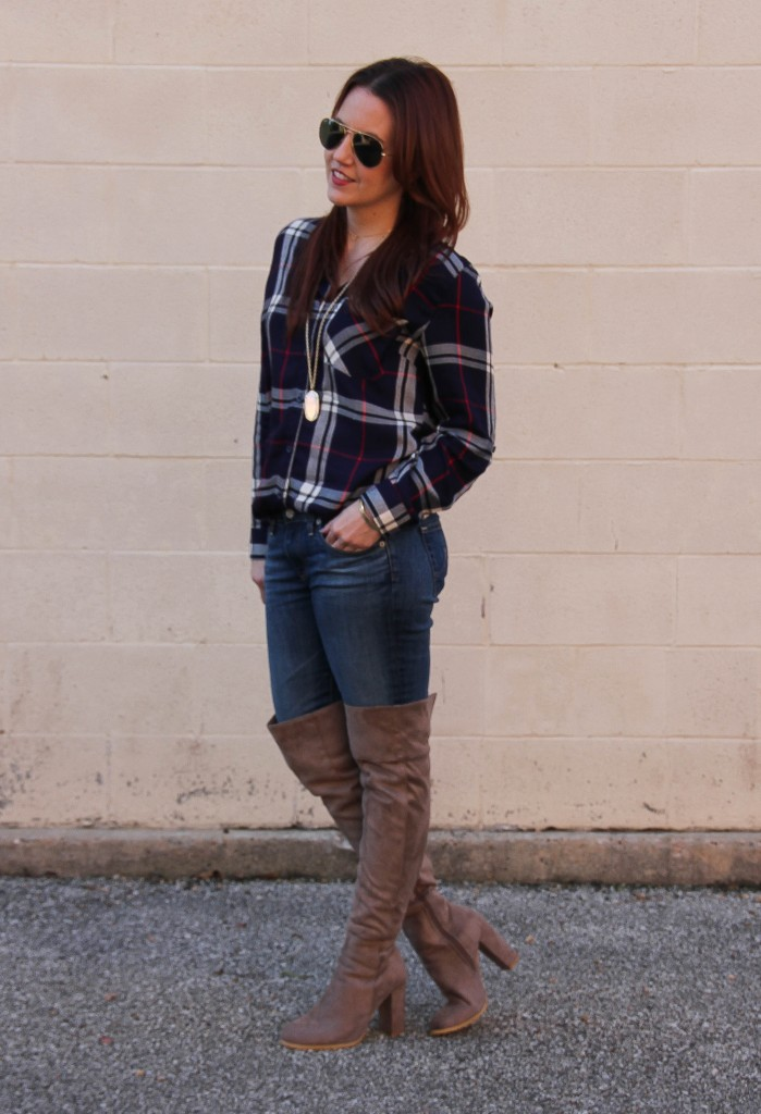 Houston Rodeo Outfit Plaid And Otk Boots Lady In
