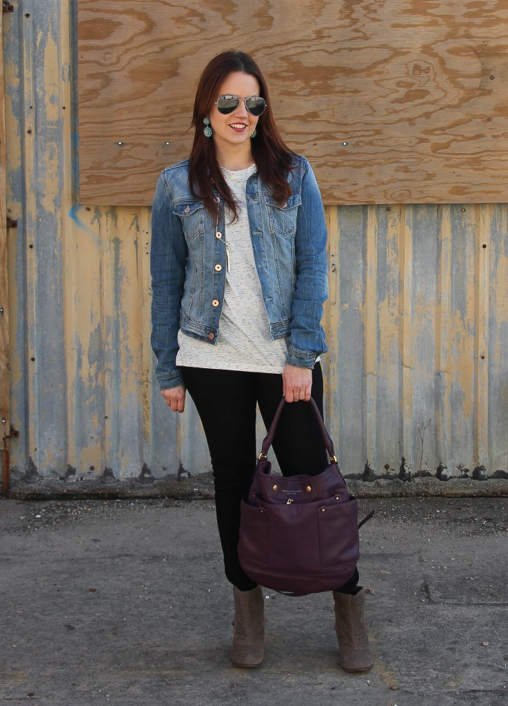 Winter Outfit - Denim Jacket | Lady in Violet