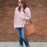 Cozy Striped Tee & The Big Tote