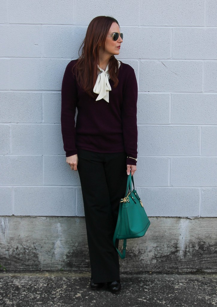 Winter Work Outfit | Lady in Violet
