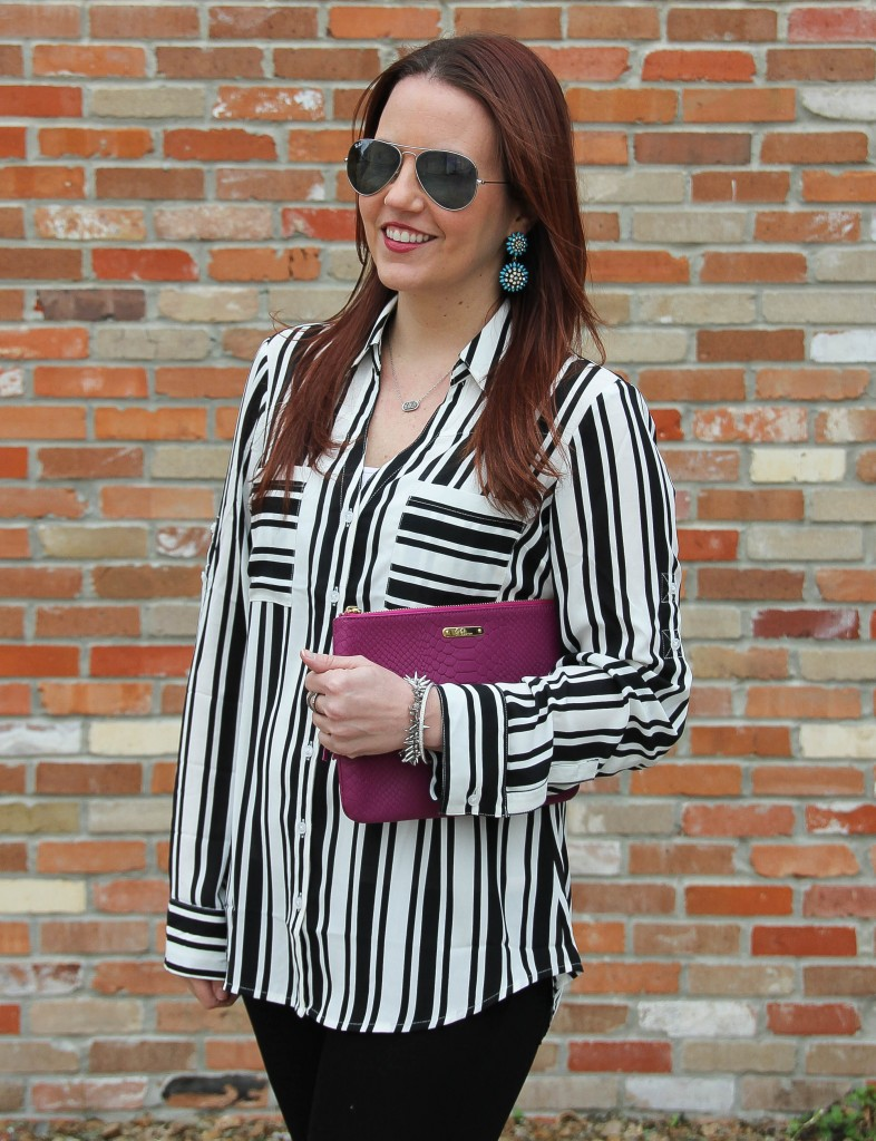 Express Portofino Striped Shirt | Lady in Violet