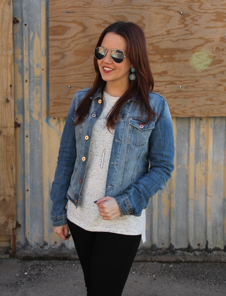 How to wear a denim jacket | Lady in Violet