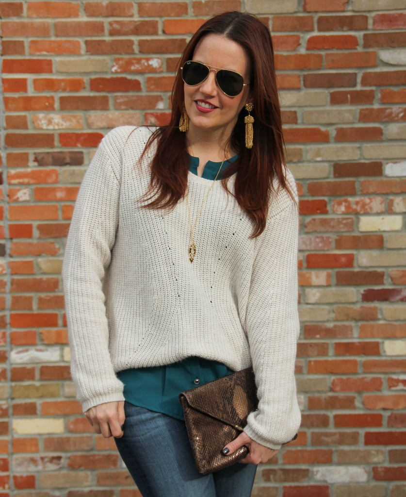 Layering a cropped sweater | Lady in Violet