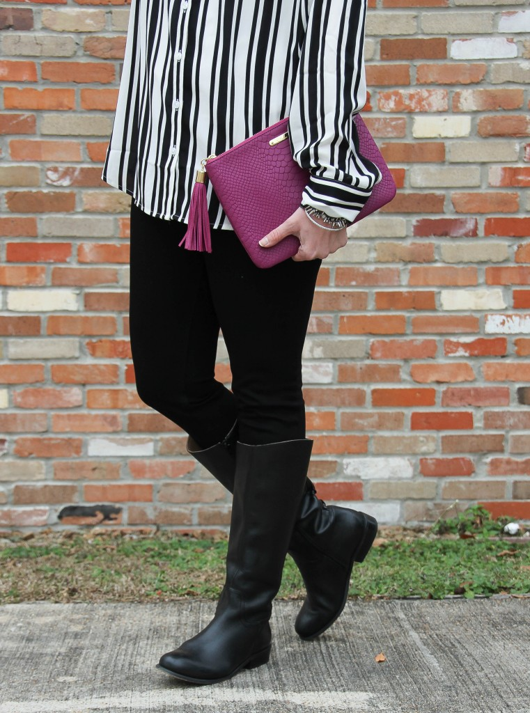 Black Riding Boots and Black Skinny Jeans | Lady in Violet