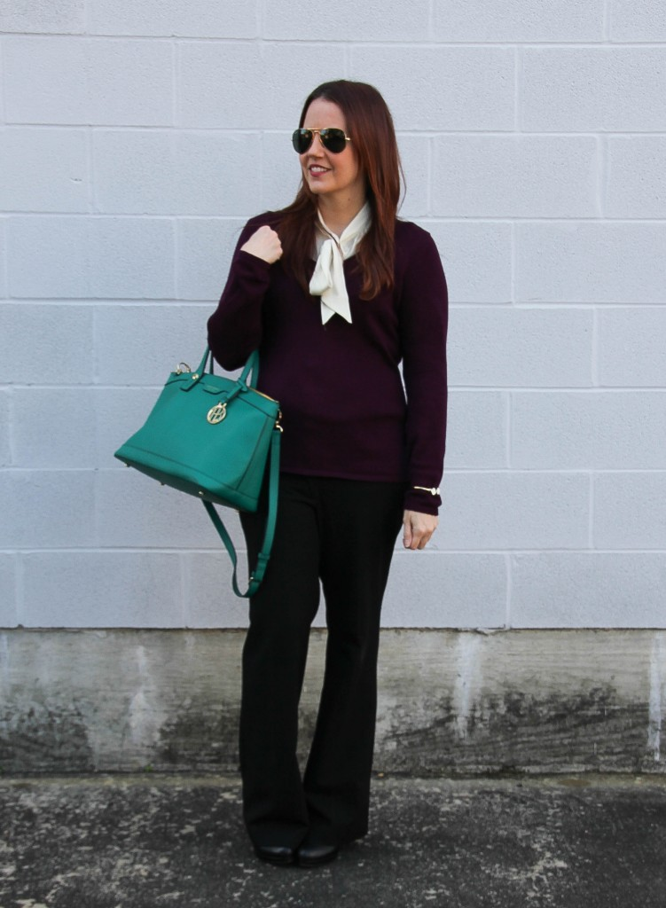 winter office outfit | Lady in Violet