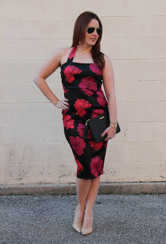 Date Night Outfit - midi dress | Lady in Violet