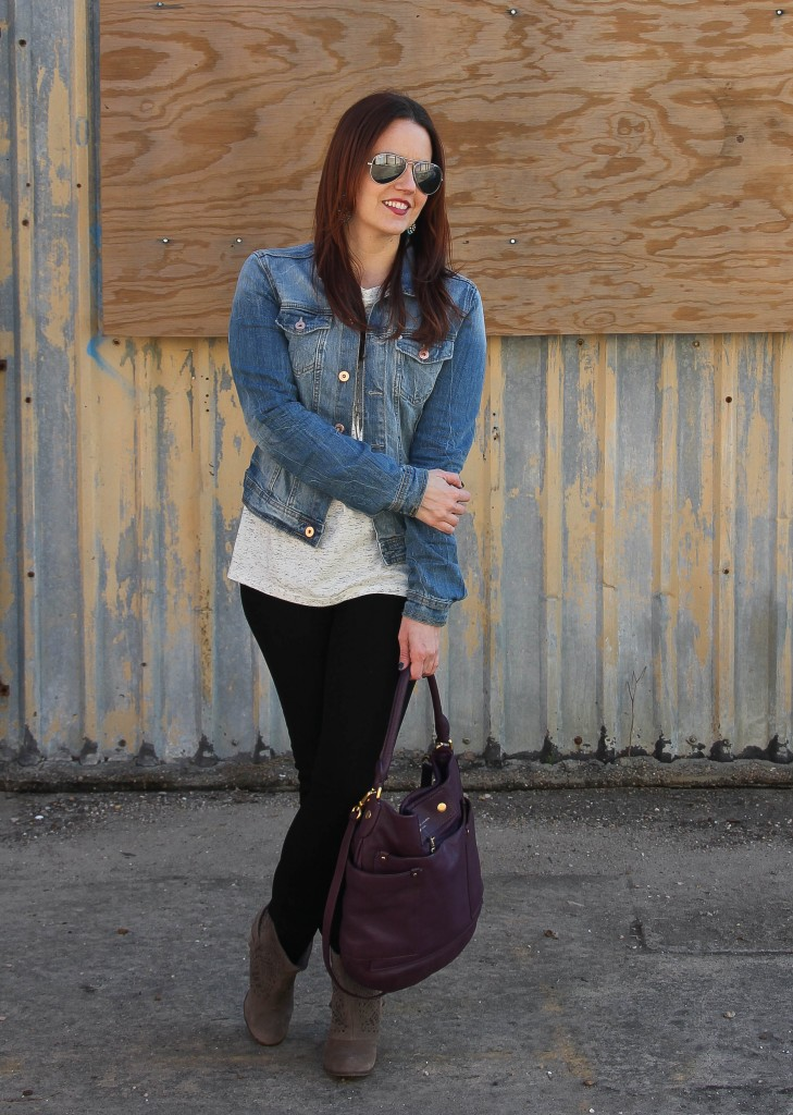 Fall Outfit - jacket and skinny jeans | Lady in Violet