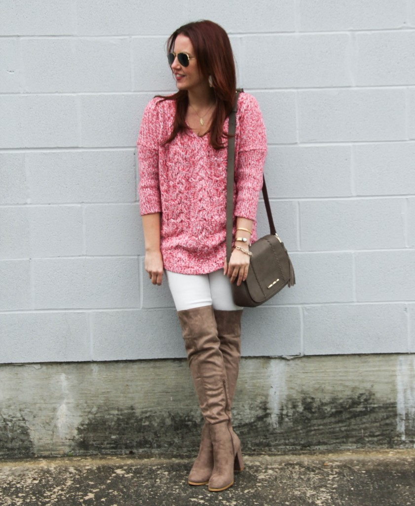 Winter Fashion - Sweater, Denim, Boots | Lady in Violet