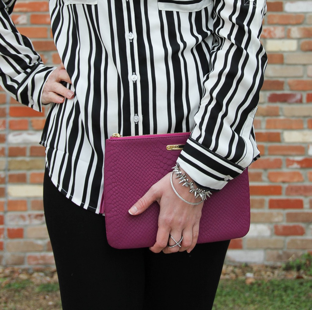 Gigi Ny all in one bag in magenta | Lady in Violet