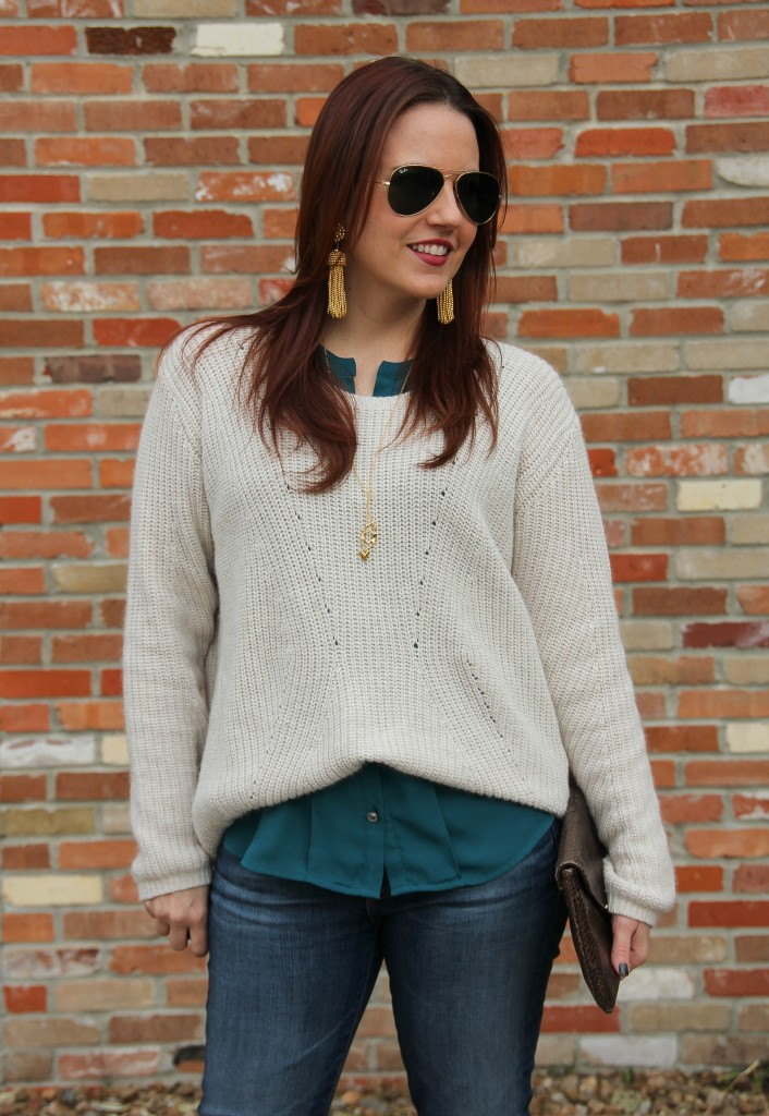 Layering for Winter with sweaters | Lady in Violet