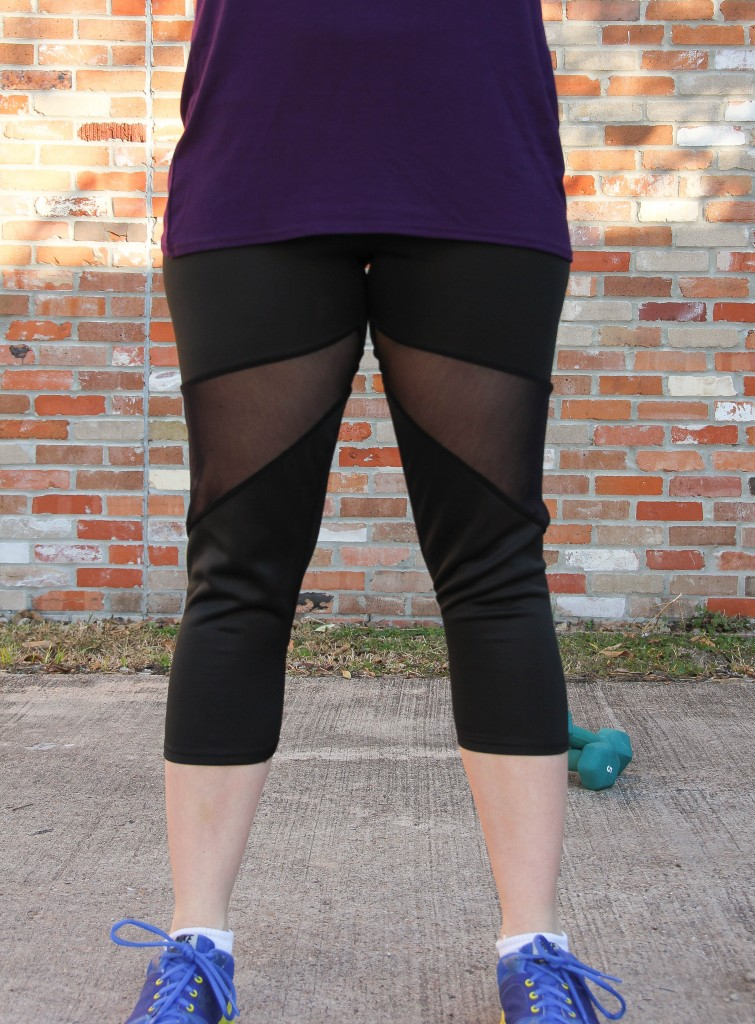 Boohoo Mesh Panel Sport Leggings | Lady in Violet