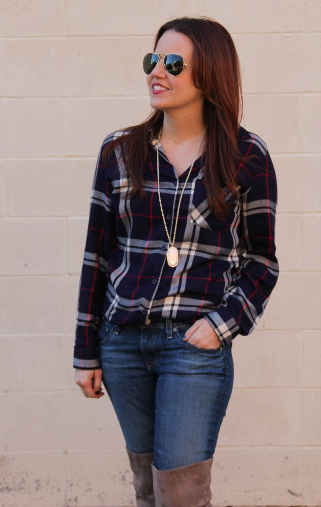 How to wear a plaid shirt | Lady in Violet