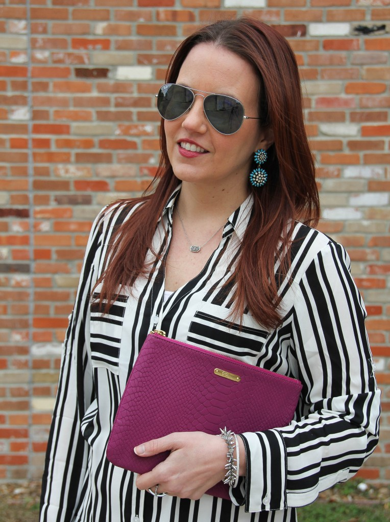 Must Have Work Shirt - black and white stripes | Lady in Violet