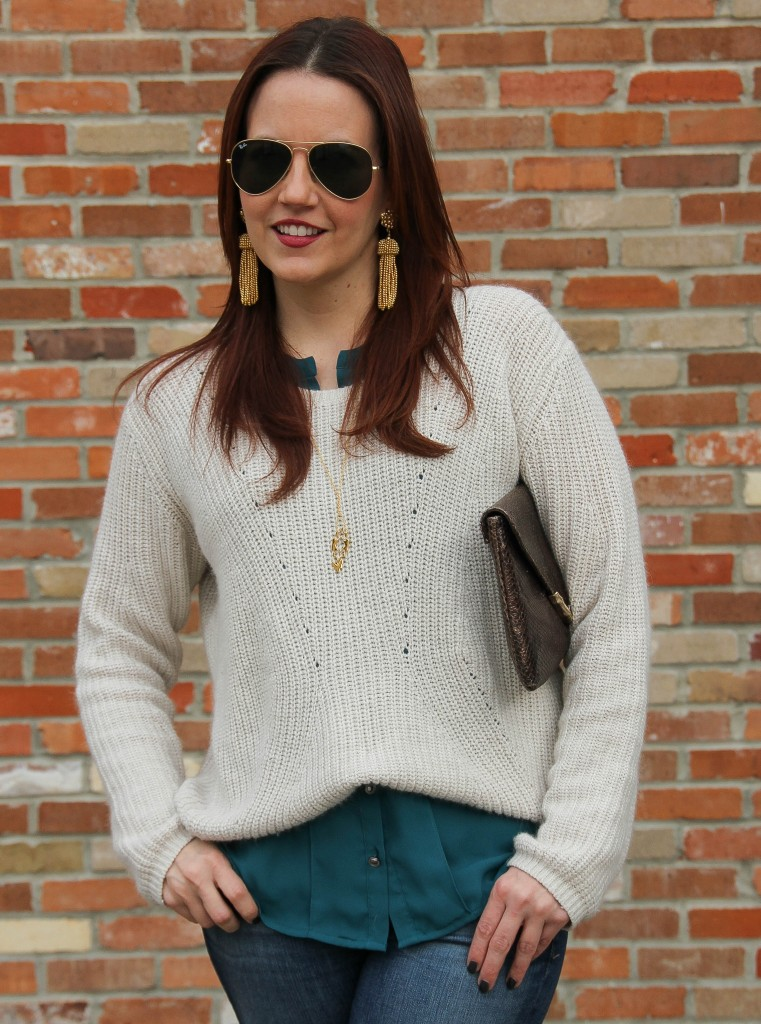 Ways to Wear a cropped sweater | Lady in Violet