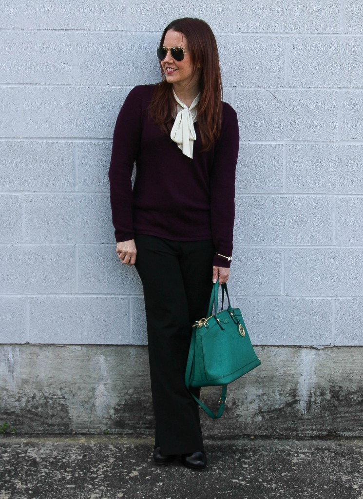 Winter Work Outfit Idea | Lady in Violet