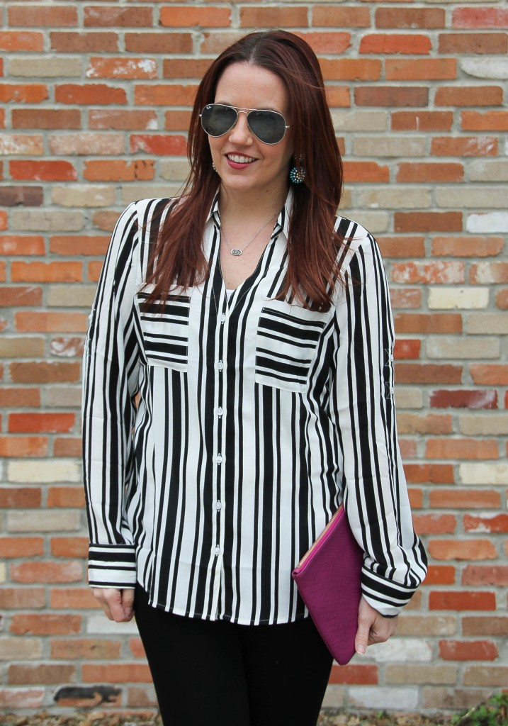 Must have work shirt - portofino striped top | Lady in Violet