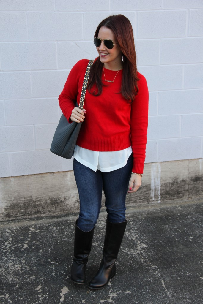 Winter Outfit Inspiration - Sweater Jeans   Lady in Violet