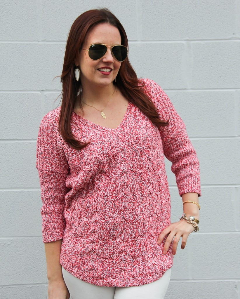 Casual Winter Sweater | Lady in Violet