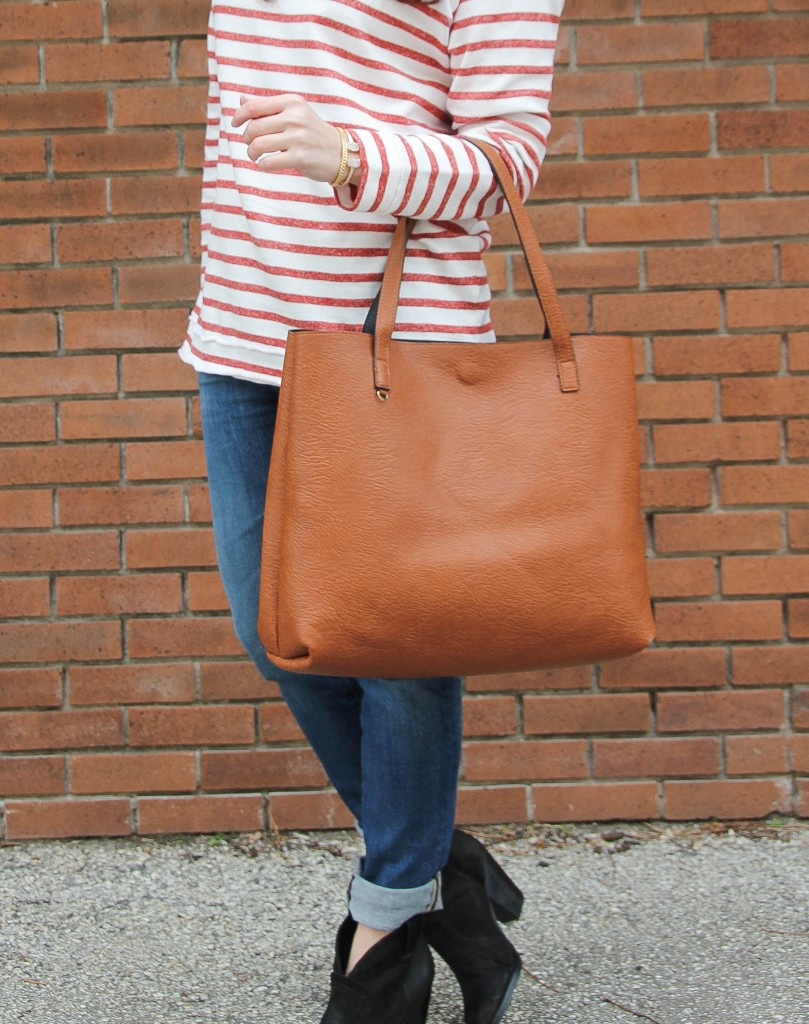 Street Level Reversible Tote and AG Jeans | Lady in Violet