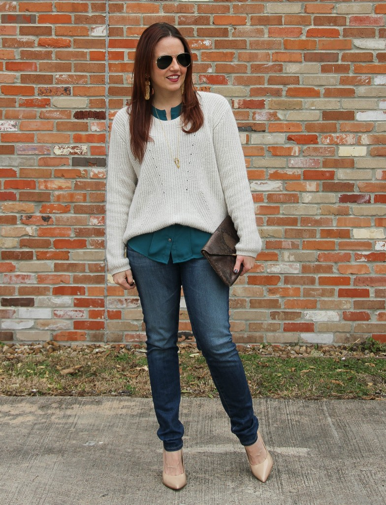 What to wear in Winter - Sweater and Heels | Lady in Violet