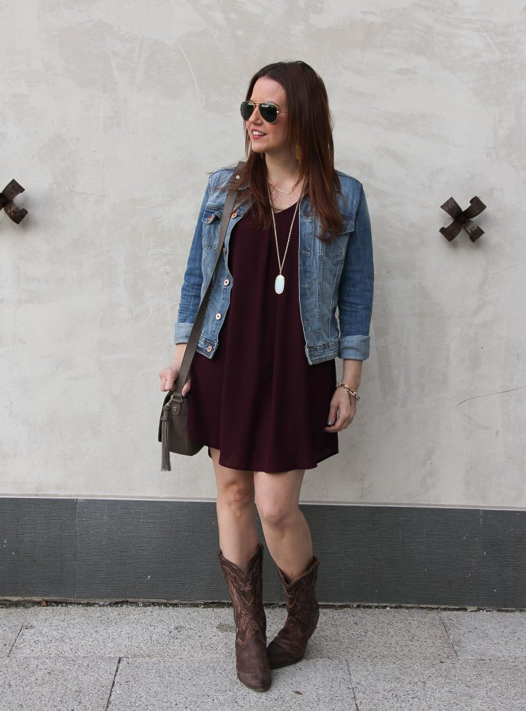 Rodeo Cookoff Outfit - dress and cowboy boots | Lady in Violet