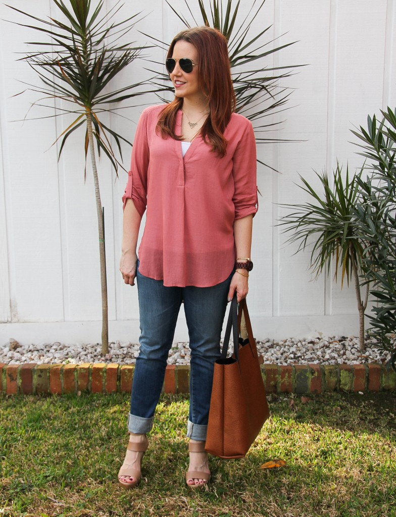 Spring Fashion outfit - tunic and wedges | Lady in Violet