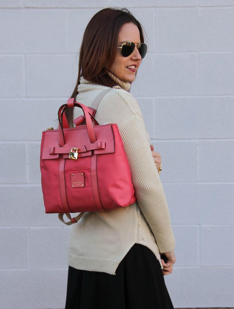 Henri Bendel Jetsetter Bag and Turtleneck Sweater | Lady in Violet
