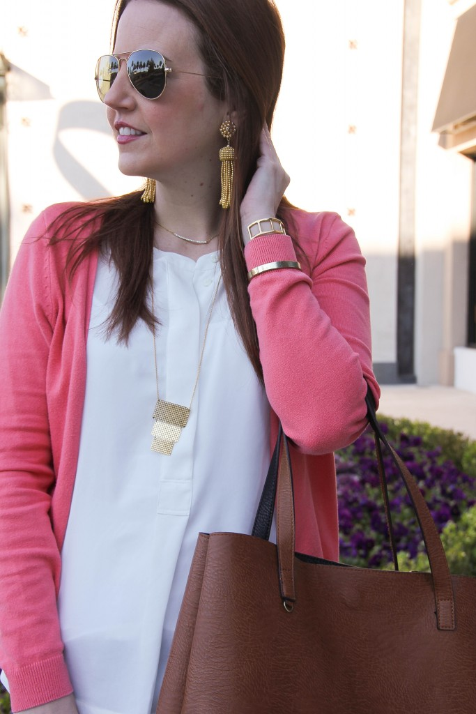 tassel earrings and pendant necklace