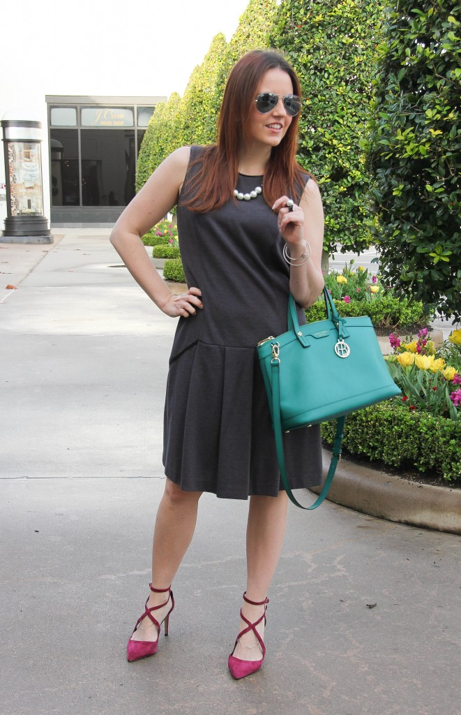 how to accessorize a work outfit by Lady in Violet