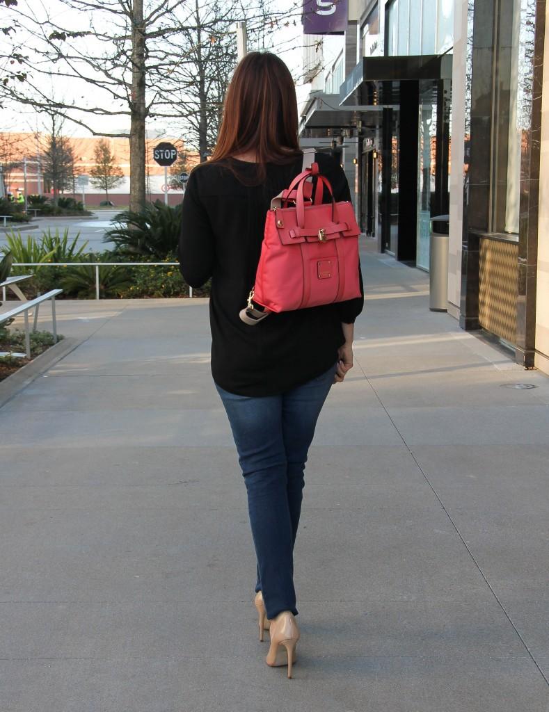 Pink Henri Bendel Backpack purse