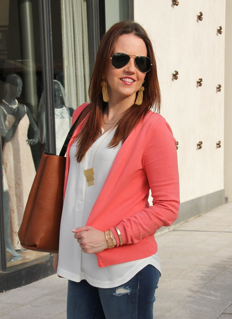 how to wear colorful cardigans