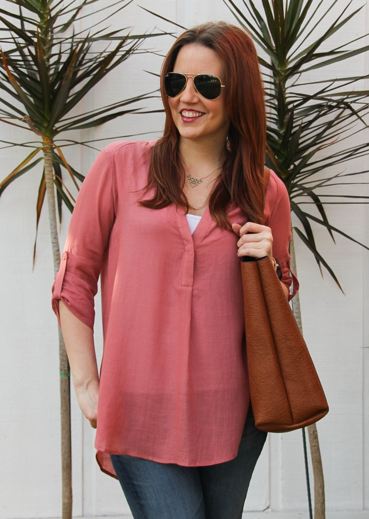 lush henley blouse
