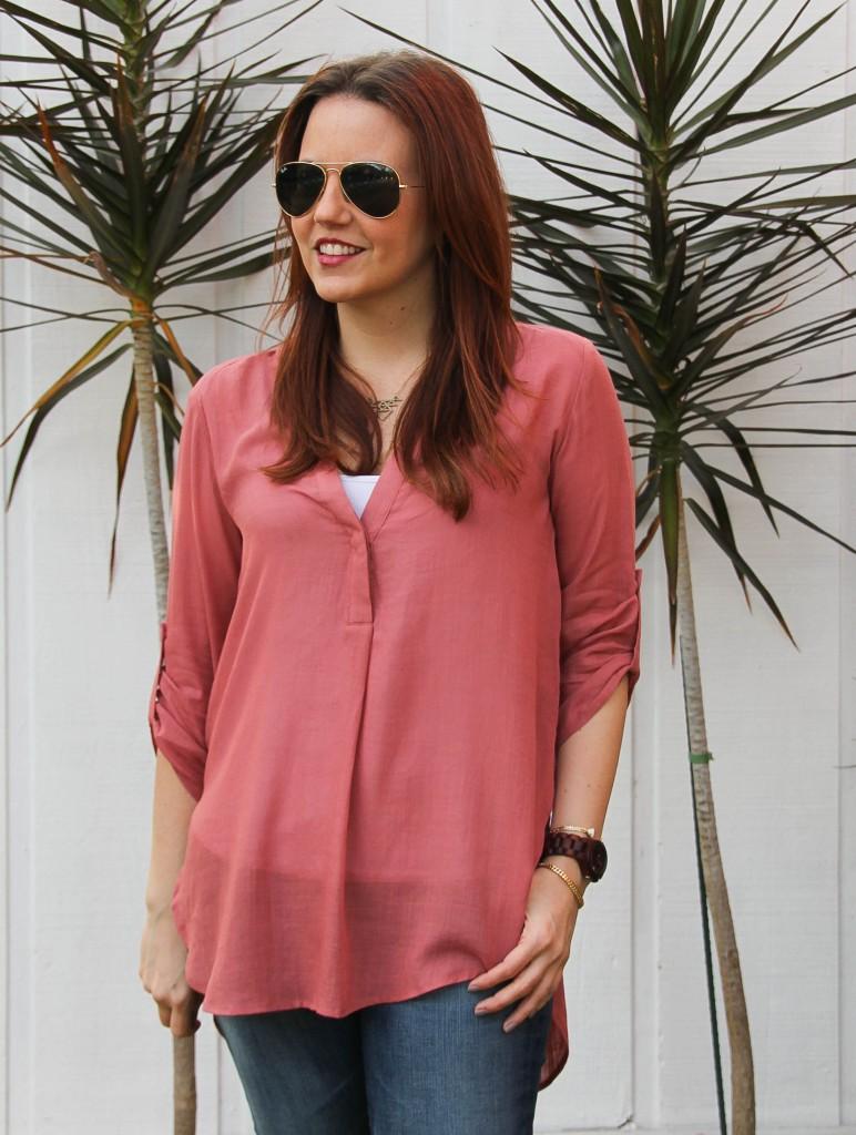 pink spring blouse