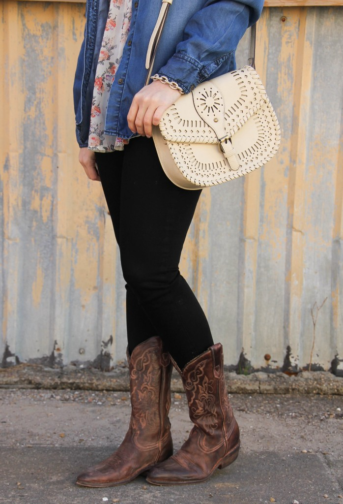 Sole Society Kianna satchel and cowboy boots