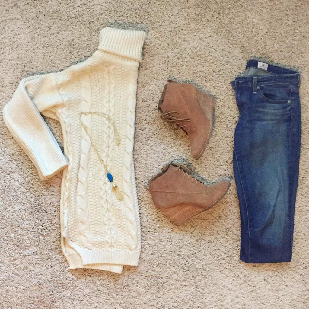 winter fashion flatlay