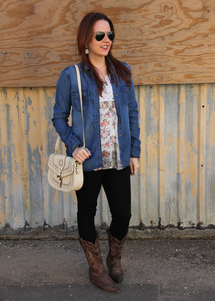 Rodeo outfit - denim shirt and cowboy boots