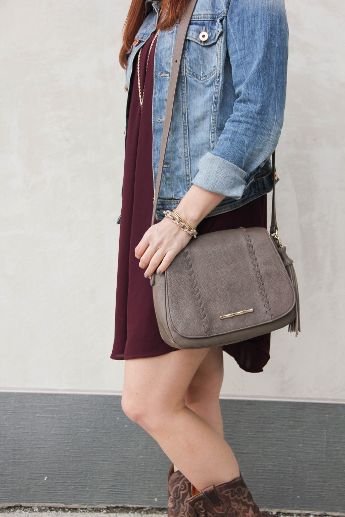Taupe Saddlebag purse