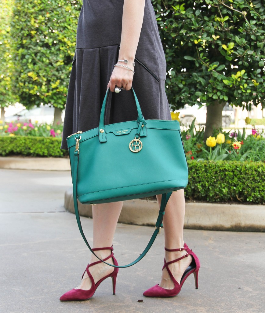 henri bendel west 57th satchel and sole society lux heel | Lady in Violet