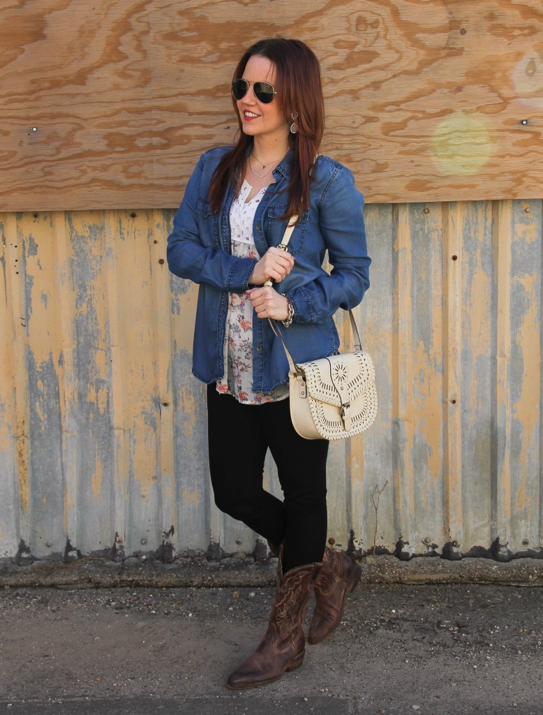 Houston Rodeo Outfit with Cowboy Boots | Lady in Violet