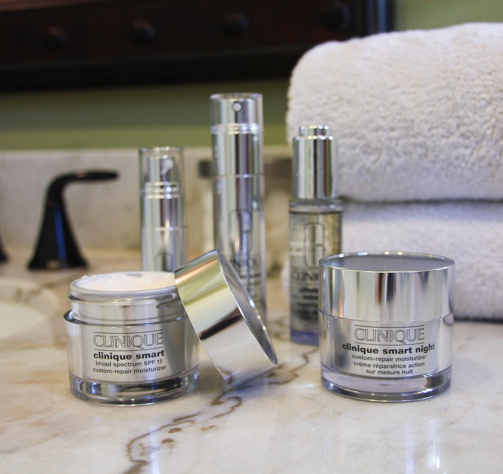 Anti-aging skincare routine with Clinique