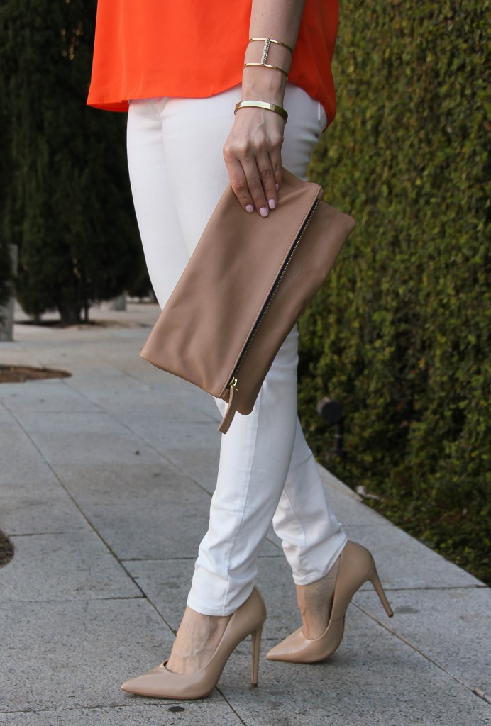 Clare V Foldover Clutch and Steve Madden Proto Heels