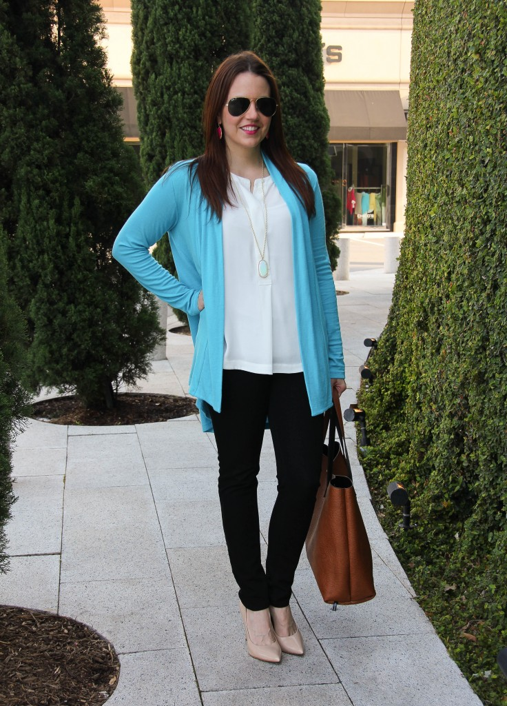 weekend casual outfit - cardigan and jeans