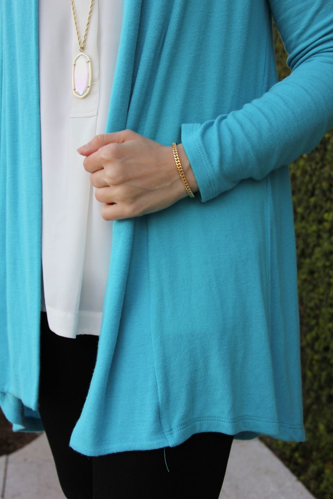 blue cardigan for spring or summer
