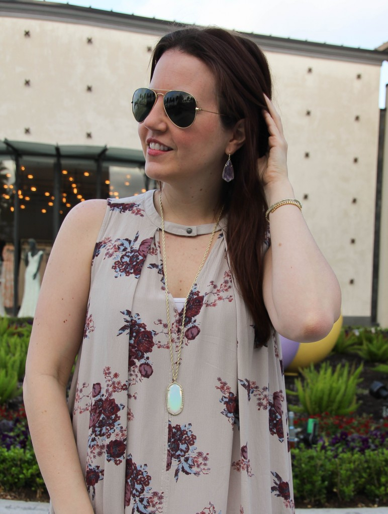 Kendra Scott Carla earrings and Rae Necklace