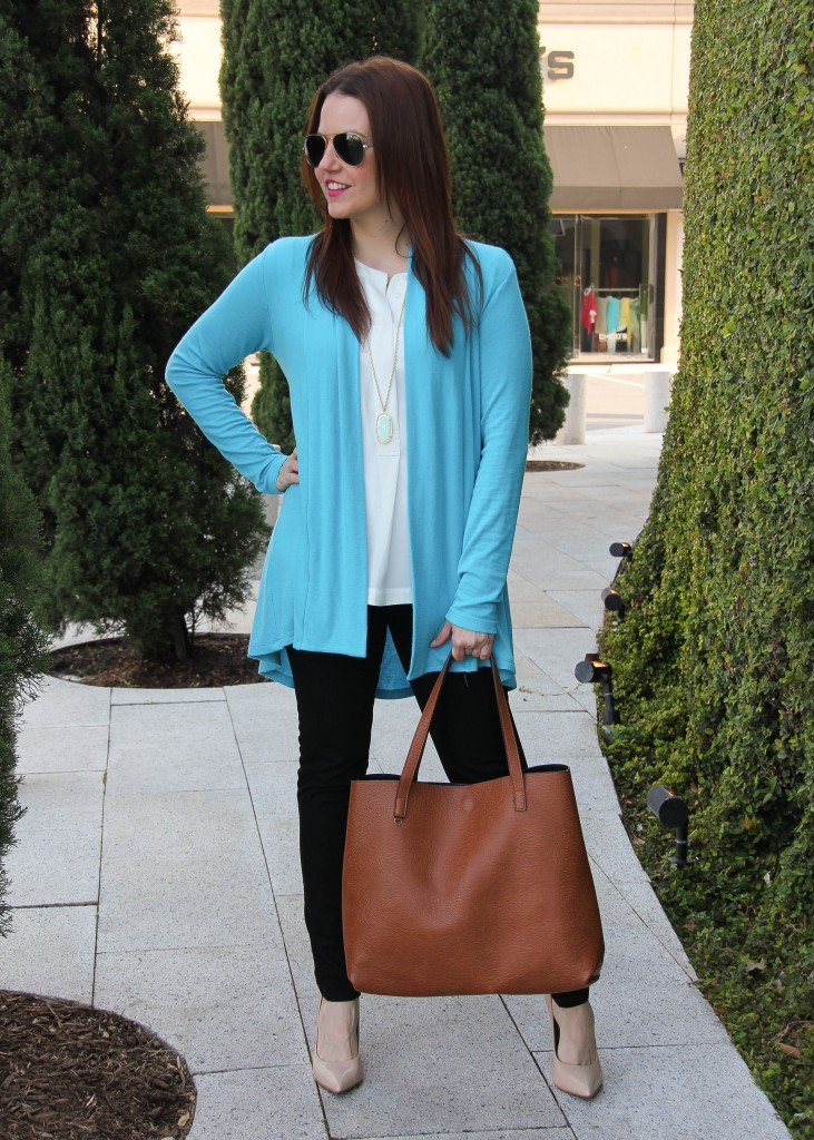 spring fashion outfit - cardigan and heels - LOVE!