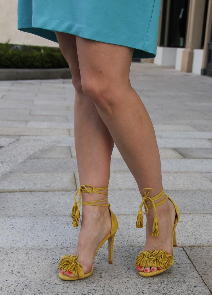 yellow fringe heels - spring sandals