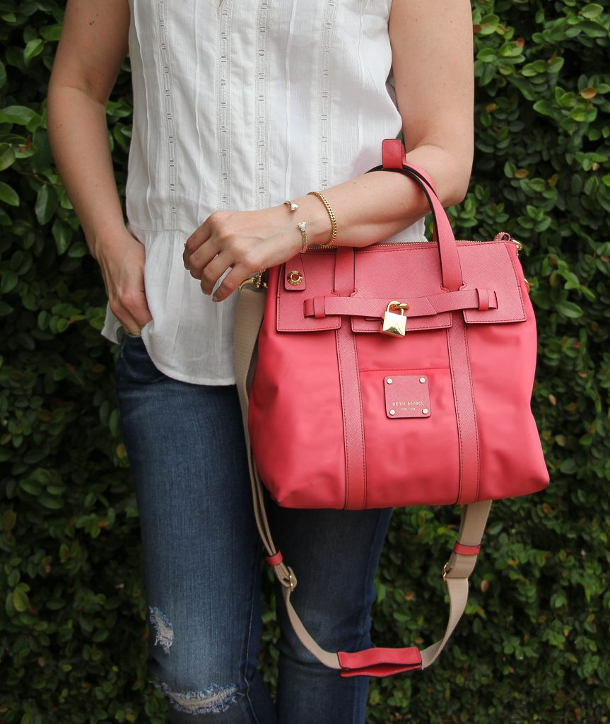 henri bendel jetsetter bag in pink