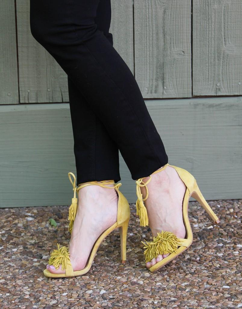 Steve Madden Fringe heels in yellow